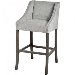 Urban ring back bar stool grey