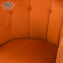 Urban rust velvet tub chair