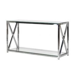 Urban steel and glass console table