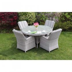 Verona 4 seater round set grey
