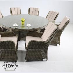 Verona 8 seater round set natural