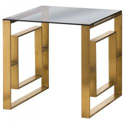 Vintage edwin side table brushed brass