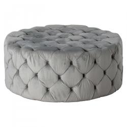 Vintage large grey footstool