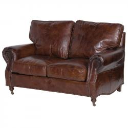 Ex display vintage leather 2 seater