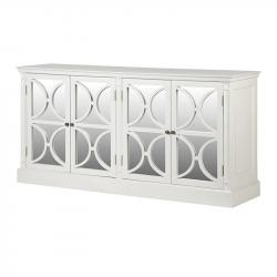French chic 4 drawer mirrored sideboard white