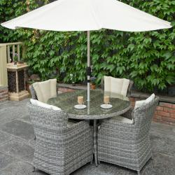 York 4 seater round set