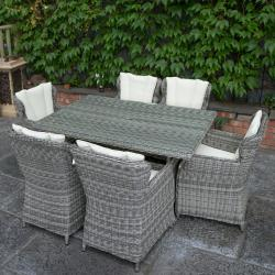 York 6 seater rectangle set