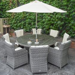 York 8 seater round set