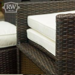 Warehouse clearance 4 seater cube set brown weave