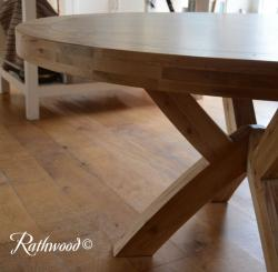 Kingston oak 1 5m round table