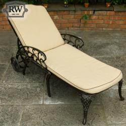 Lyon dark deck chair