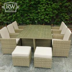 Chester cube rattan 6 seat set